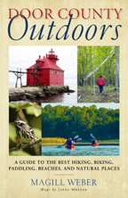 Various images of Door County are on the cover - wildlife, barns, lakes, etc.