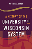 Typographic cover with maroon, gold, and red background inspired by the University of Wisconsin System