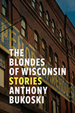 The Blondes of Wisconsin: Cover showing the side of an old brick building with blue and yellow letters painted on it.
