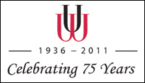 This is the logo of the UW Press, celebrating 75 years of publishing.