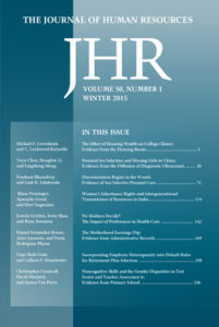 A Cover of the Journal of Human Resources
