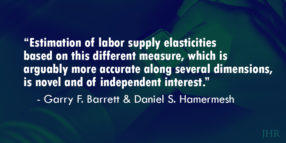 Estimation of labor supply elasticities