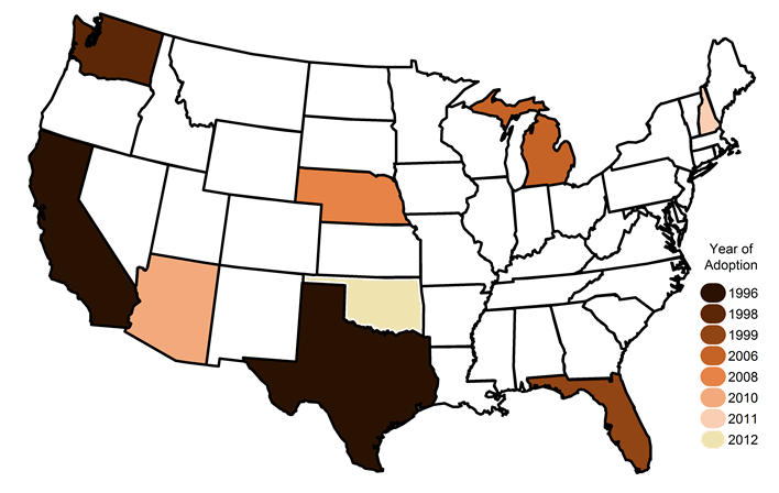 map of state bans