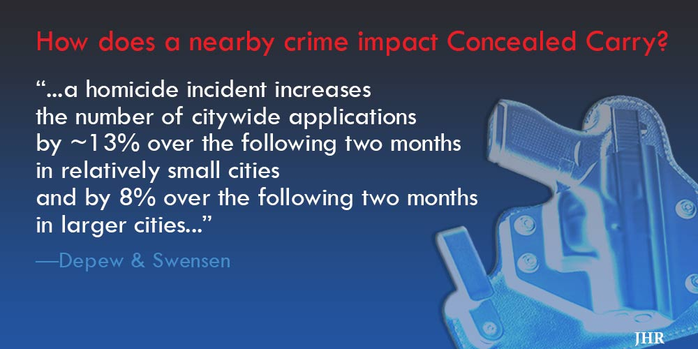 concealed carry applications increase after a crime
